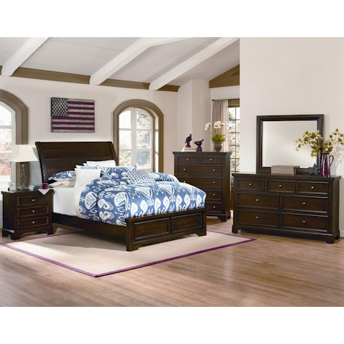 Vaughan Bassett Hanover Queen Bedroom Group