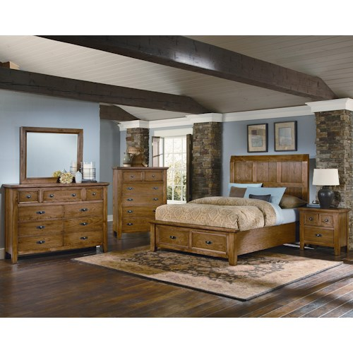 Vaughan Bassett Timber Mill Queen Bedroom Group