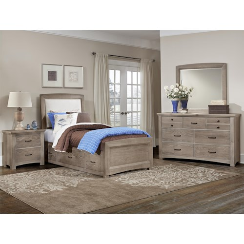 Vaughan Bassett Transitions Twin Bedroom Group