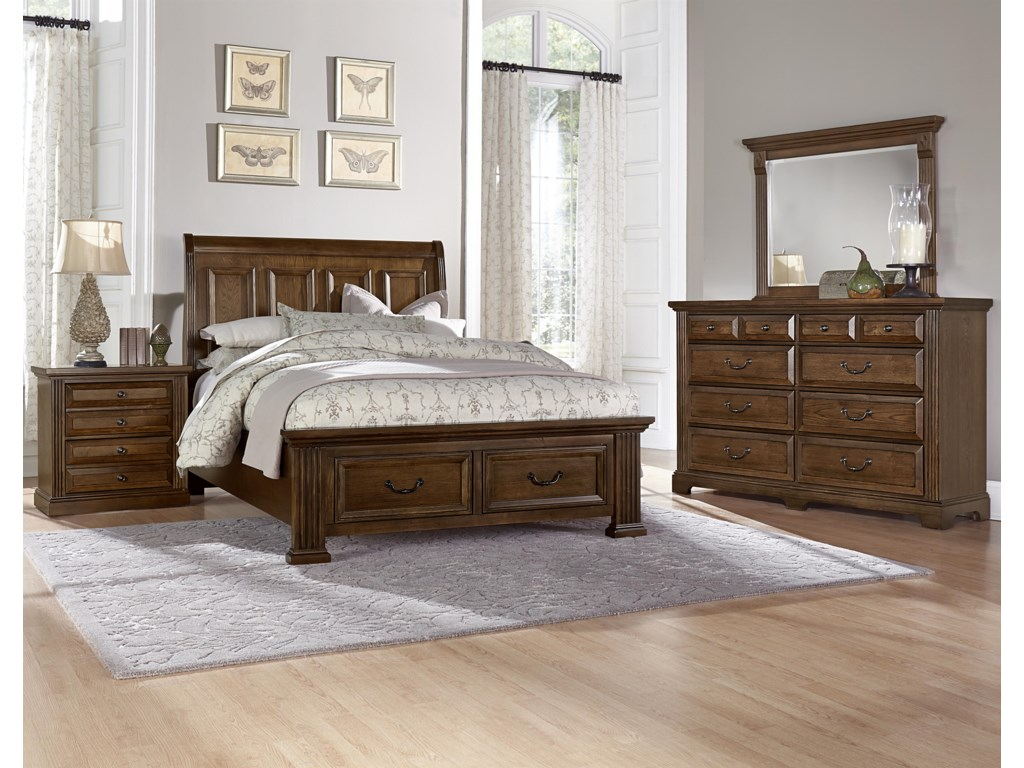 Queen Size Bed Shown. King Bed Has 5 Panels on Headboard.