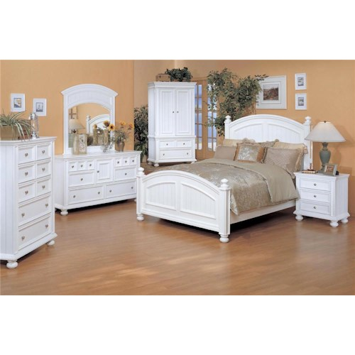 Winners Only Yarmouth Queen Bedroom Group