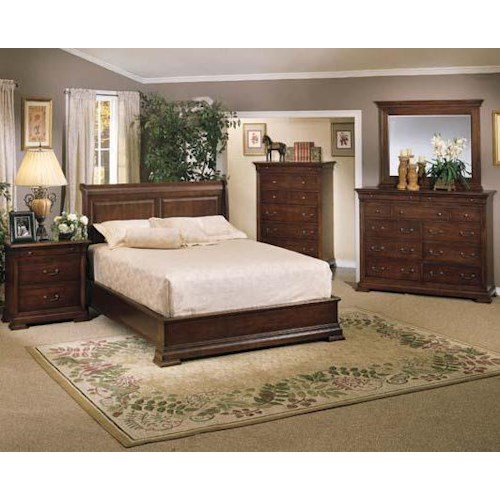 Winners Only Classic California King Bedroom Group
