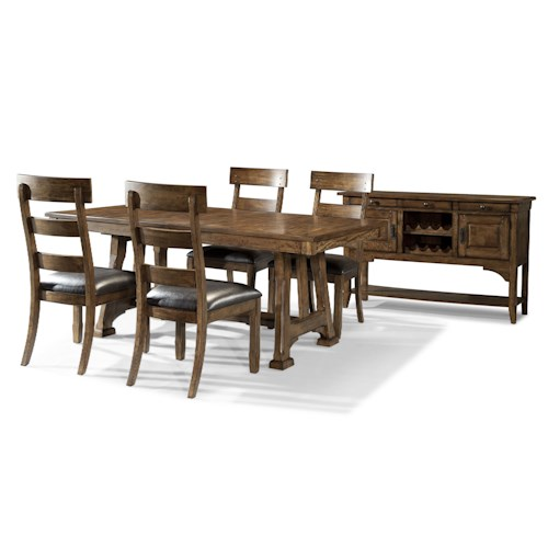 aamerica ozark casual dining room group fashion. Black Bedroom Furniture Sets. Home Design Ideas