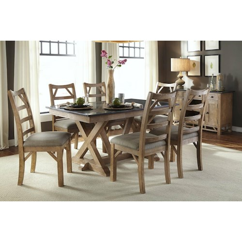 Aamerica West Valley Casual Dining Room Group Fashion Furniture Casual Dining Room Group