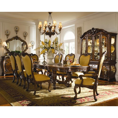 dining room group michael amini palais royale formal dining room group