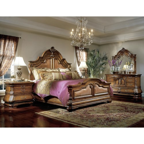 Michael Amini Tuscano Queen Bedroom Group Story Lee Furniture Bedroom Group Leoma