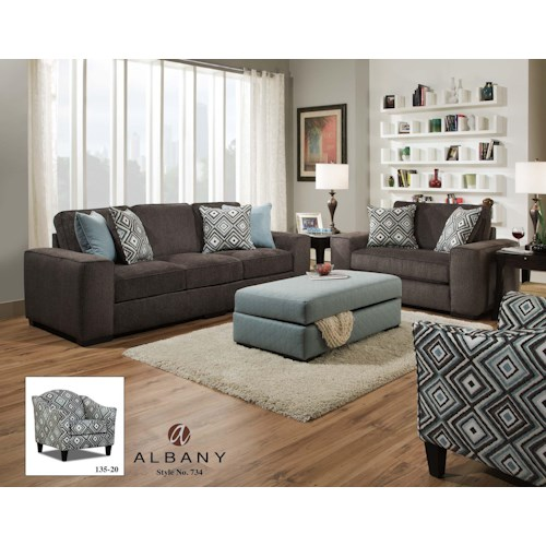 Albany 734 Stationary Living Room Group A1 Furniture Mattress Upholstery Group