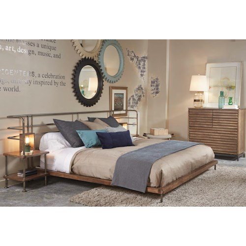 A R T Furniture Inc Epicenters King Bedroom Group