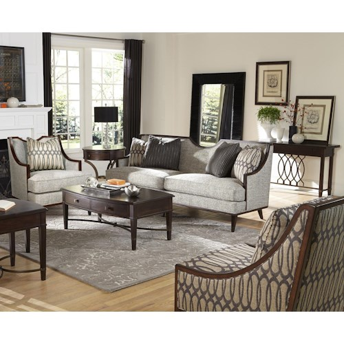 A R T Furniture Inc Intrigue Harper Mineral Stationary Living Room Group
