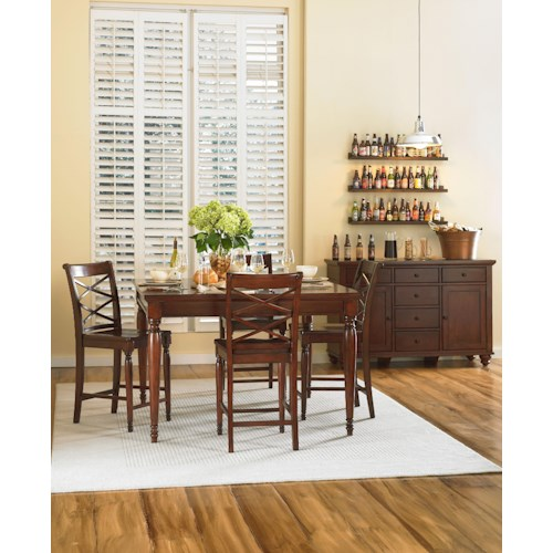 Aspenhome Cambridge Casual Dining Room Group Fashion Furniture Casual Dining Room Group
