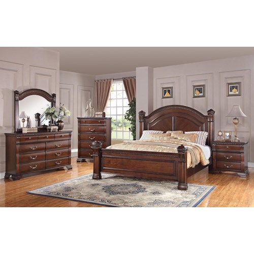 Austin Group Isabella 527 Bedroom Group Furniture Fair
