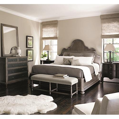 Bernhardt Belgian Oak King Bedroom Group - Sprintz ...