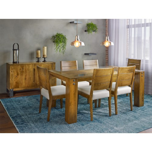 canadel loft custom dining casual dining room group. Black Bedroom Furniture Sets. Home Design Ideas