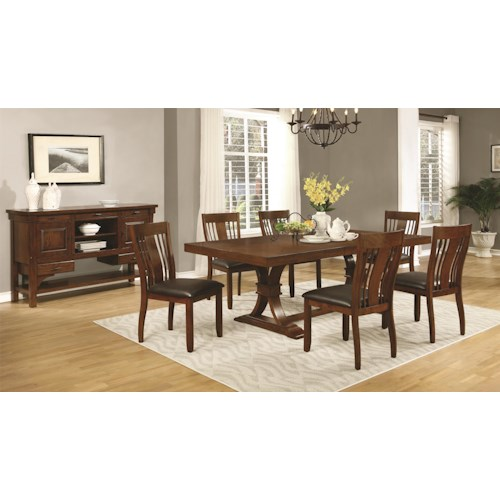 Casual Dining Room Group Abrams By Coaster Wilcox Furniture Casual Dining Room Groups