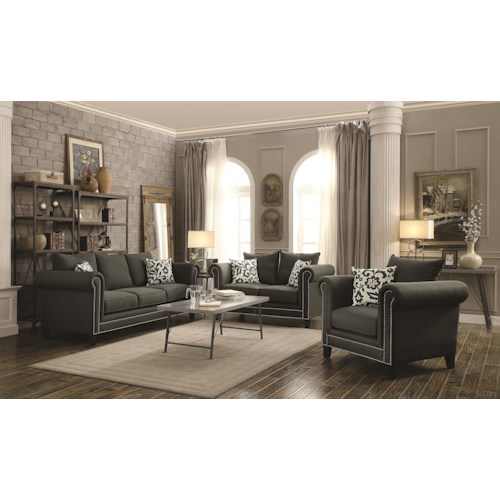 Coaster Emerson Stationary Living Room Group Value City