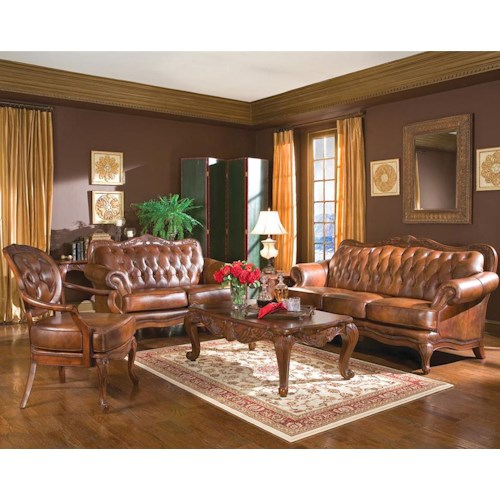 Stationary Living Room Group Victoria By Coaster Wilcox Furniture Upholstery Group Corpus
