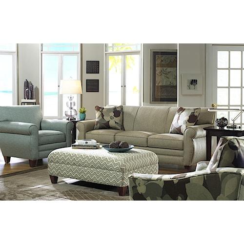 Craftmaster 738800 Stationary Living Room Group Bullard Furniture Station