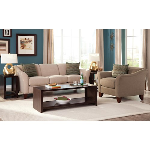 Craftmaster 7844 Stationary Living Room Group Fashion Furniture Stationar