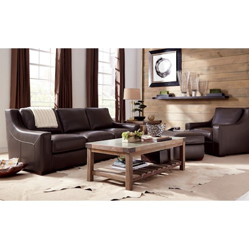 hickory craft l144500 stationary living room group godby On godby home furniture