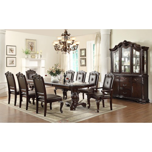 Formal Dining Room Group Kiera By Crown Mark Wilcox Furniture Formal Dining Room Group
