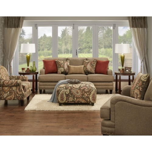 Fusion Furniture 5960 Stationary Living Room Group Dream Home Furniture Upholstery Group