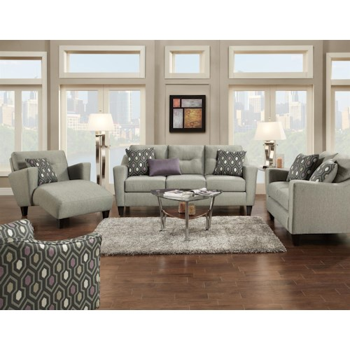 Fusion Furniture 8210 Stationary Living Room Group Colder 39 S Furniture And Appliance