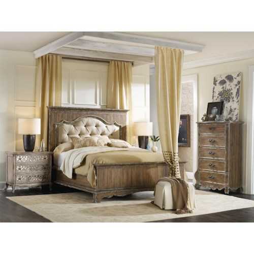 Hooker Furniture Chatelet Queen Bedroom Group Stoney