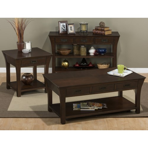 Jofran artisan occasional table group bullard furniture for Furniture r us fayetteville nc