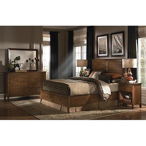 kincaid furniture cherry park king bedroom group belfort furniture