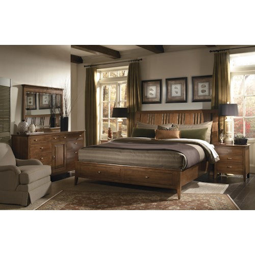 Kincaid Furniture Cherry Park Queen Bedroom Group Becker Furniture World Bedroom Group Twin