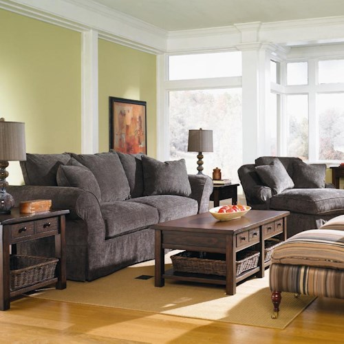 Klaussner Charleston Stationary Living Room Group Dunk