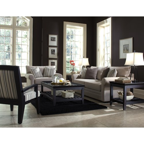 klaussner comfy stationary living room group hudson 39 s