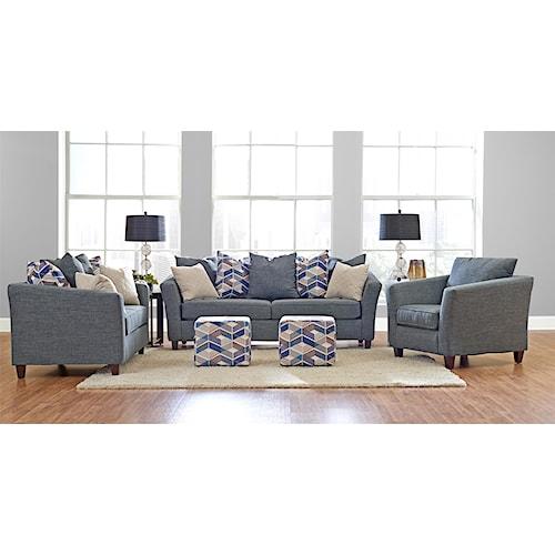 Klaussner culpepper stationary living room group dunk for Klaus k living room brunssi