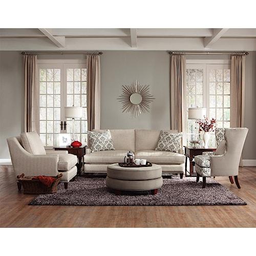 Klaussner duchess stationary living room group dunk for Klaus k living room brunssi
