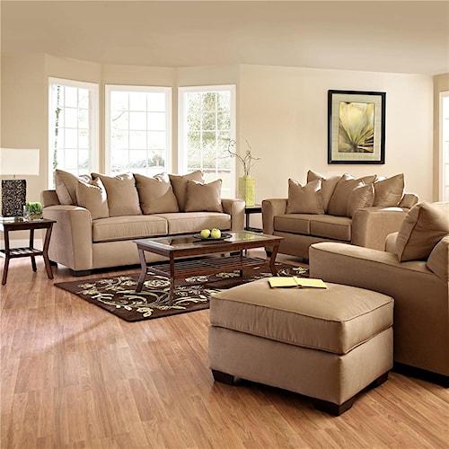 Klaussner heather stationary living room group dunk for Klaus k living room brunssi