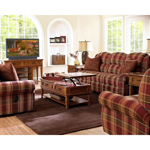 Klaussner McAlister Reclining Living Room Group Furniture Options New York