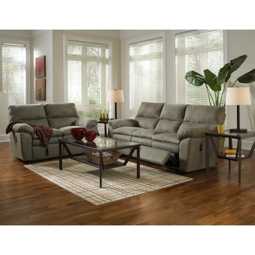 Klaussner Sanders Reclining Living Room Group Value City Furniture Reclin