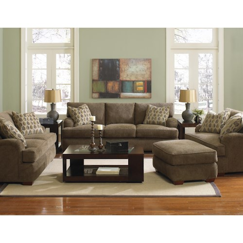 Klaussner Vaughn Stationary Living Room Group Hudson 39 S Furniture Upholstery Group Tampa St