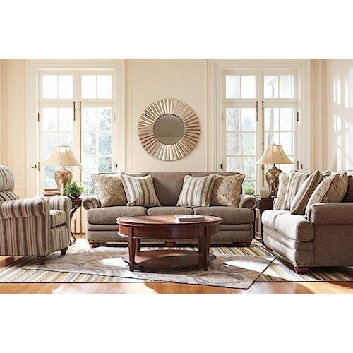 La z boy brennan stationary living room group great for La z boy living room set