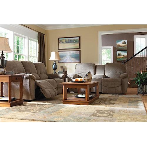 La z boy hayes reclining living room group conlin 39 s for La z boy living room set