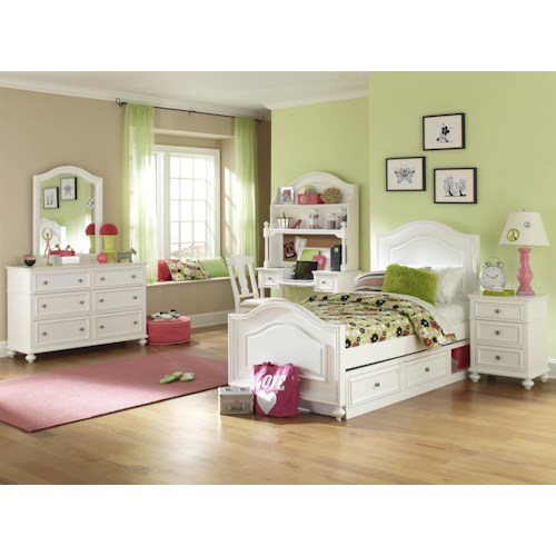 legacy classic kids madison full bedroom group - pilgrim
