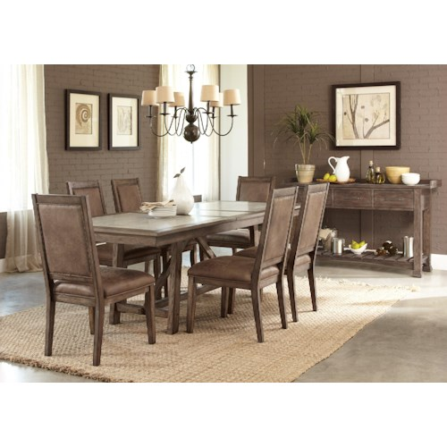 Liberty furniture stone brook casual dining room group northeast factory direct casual - Dining rooms direct ...