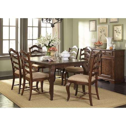Liberty furniture woodland creek casual dining room group for Dining room johnson city tn