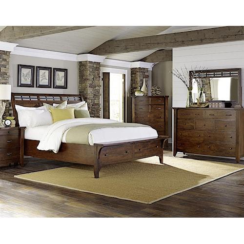 Napa furniture designs whistler retreat king bedroom group boulevard home furnishings for Napa valley bedroom furniture