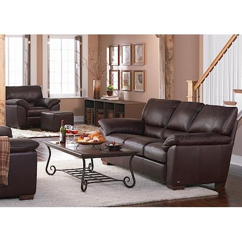 Natuzzi Editions B632 Stationary Living Room Group