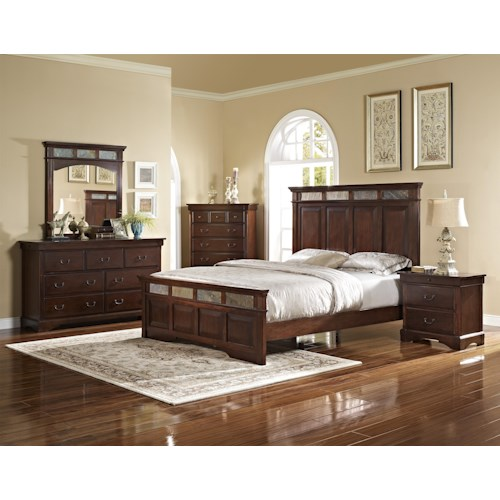 New Classic Madera King Bedroom Group Boulevard Home Furnishings Bedroom Group