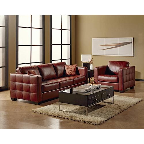 Palliser barrett stationary living room group wayside for Living room furniture groups