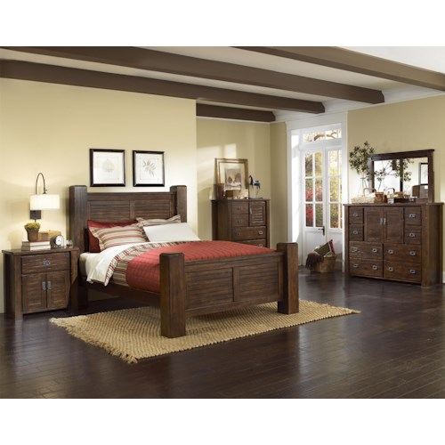 Progressive Furniture Trestlewood King Bedroom Group