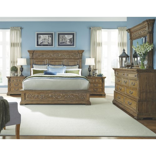 Pulaski furniture stratton queen bedroom group northeast for Factory direct bedroom furniture