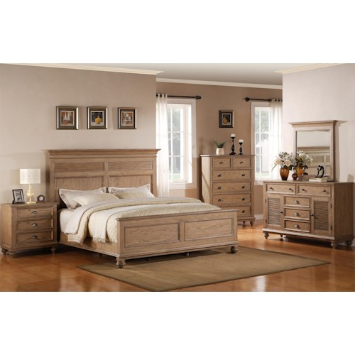 riverside furniture coventry king bedroom group dunk